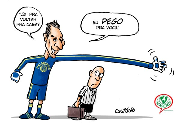 Caricatura feita por Custódio, do site Ludopedio
